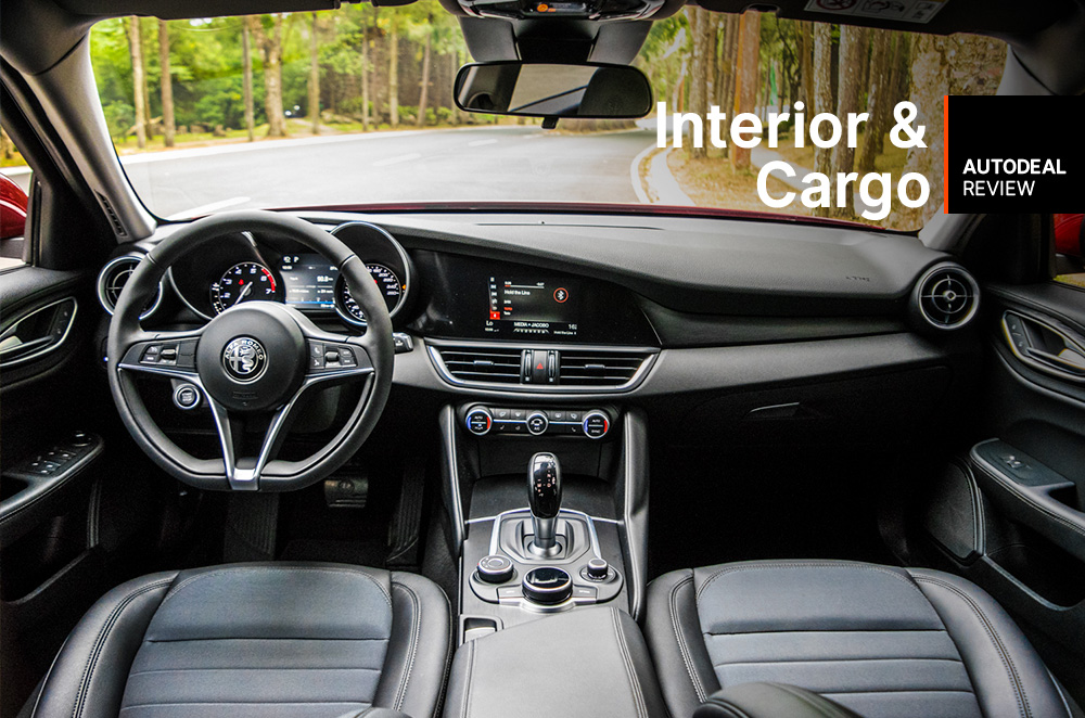 2019 Alfa Romeo Giulia Interior Amp Cargo Space Review