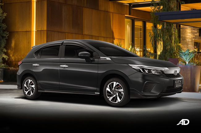 The Honda City hatchback is also available with a Modulo ...