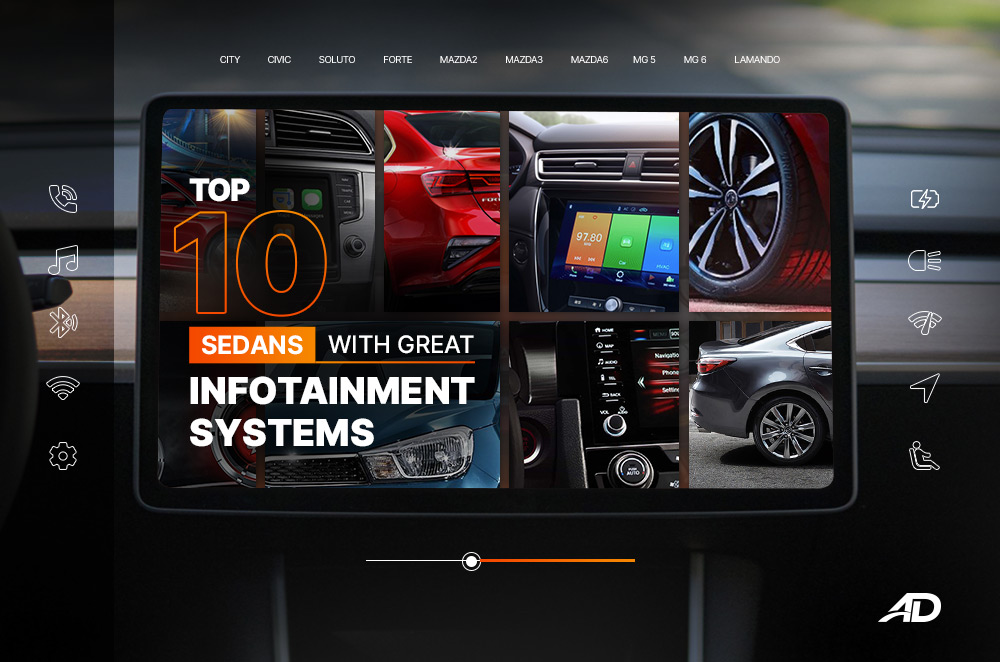 Top 10 sedans with great infotainment systems   Autodeal